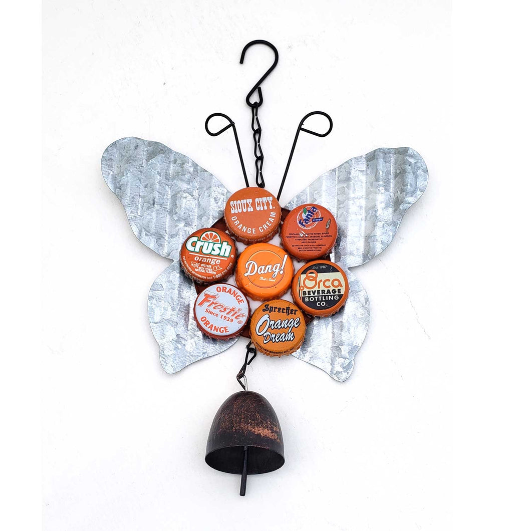 Hanging Butterfly Bottle Cap Creations