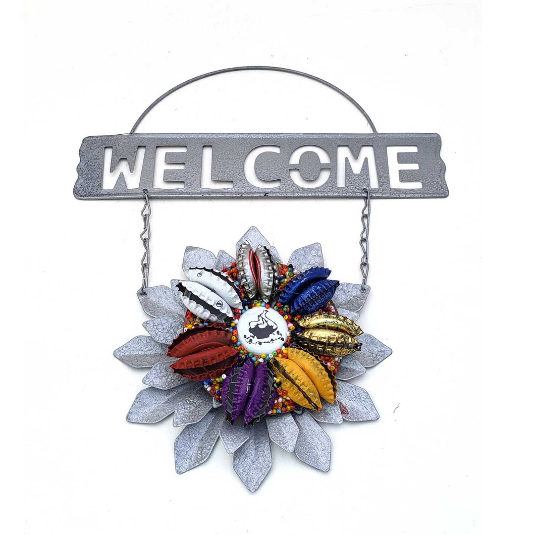 Bottle Cap Welcome Sign - Short's