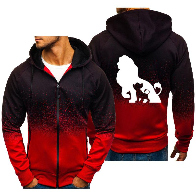 Men's Solid Color Big Size Hoodie Jacket