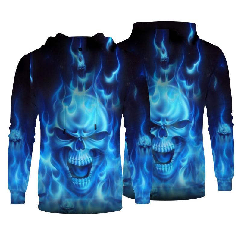 Men's 3D Print Hoodies SKULL  Fashion Casual Streetwear
