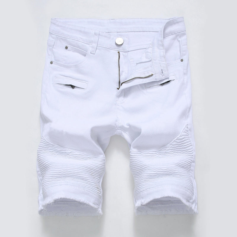 Men's elastic Capris and denim shorts