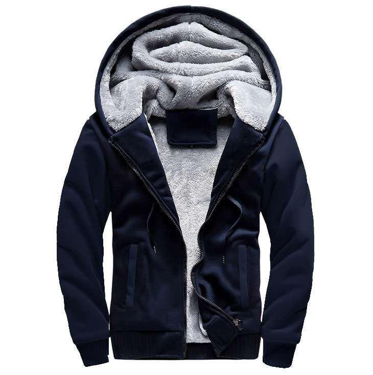 Men's Sports Casual Zipper  Sweatshirt Fleece Hoodies
