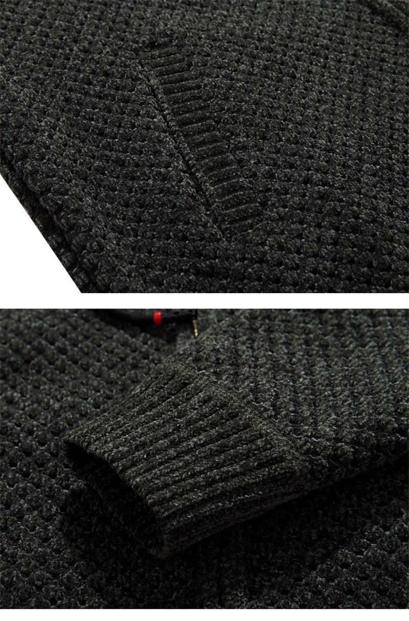 Autumn winter men sweater thick wool linner hoodie