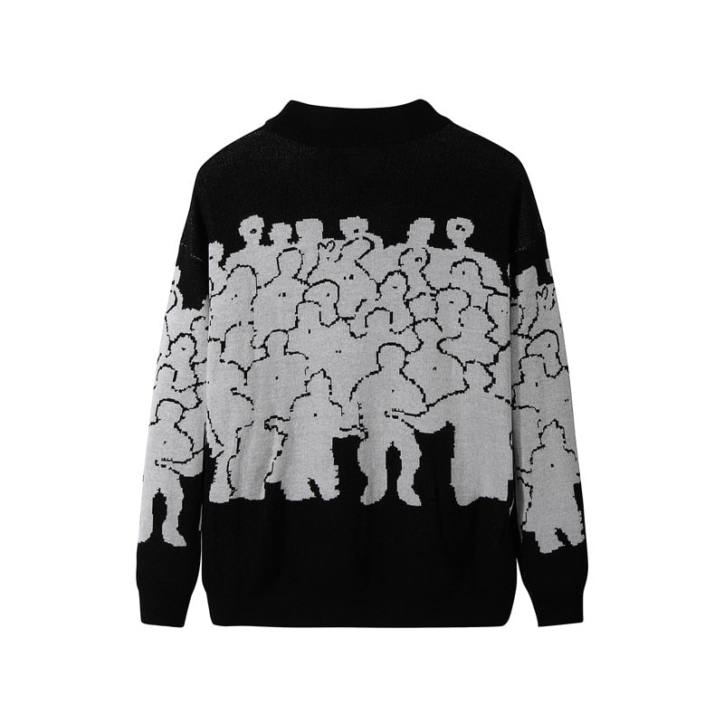 Men Homies No Quit Knitted Sweater