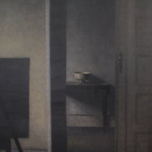 画像をギャラリービューアに読み込む, Vilhelm Hammershøi, Interior with the Artist's Easel, 1910