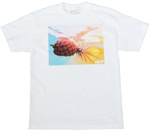 Hawaii Aquaholic Pineapple Mens Tee in White