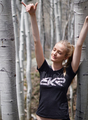BKR Aspen Womens Tee in Tri-Black