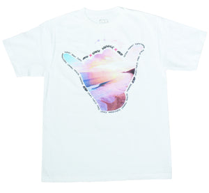 Hawaii Aquaholic Shaka Mens Tee in White