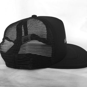 Raised by Waves Trucker Snapback Hat Black/Black