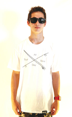 Surf Skate Tee in White