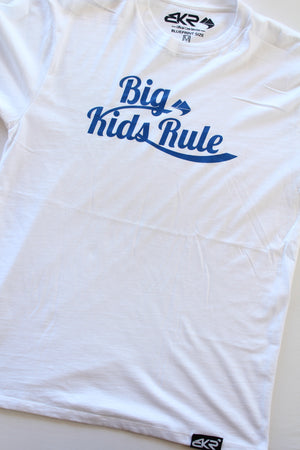 Big Kids Rule Script Tee in White