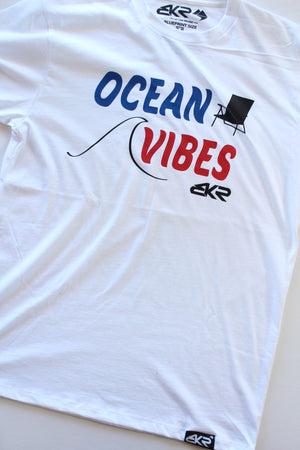 Ocean Vibes Tee in White