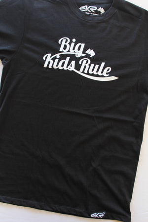 Big Kids Rule Script Tee in Black