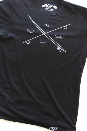 Surf Skate Tee in Black