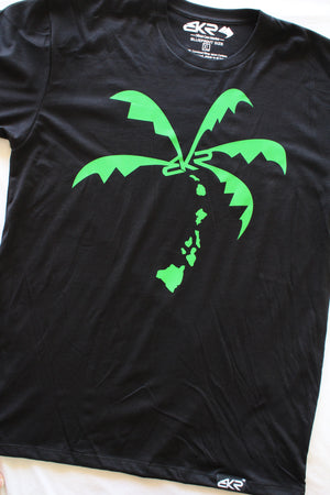 BKR HI Island Coco Tree Tee in Black/Green