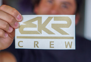 "Gold 5"" BKR Crew Decal Sticker"
