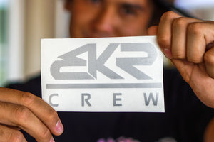"Silver 5"" BKR Crew Decal Sticker"