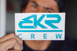 "Teal 5"" BKR Crew Decal Sticker"