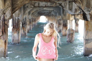 Flow Ladies Boxy Tank in Neon Pink