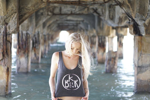 Flow Ladies Boxy Tank in Dark Grey Heather