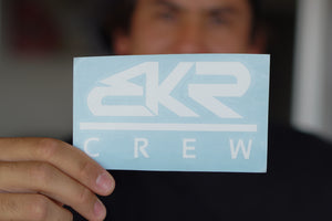 "White 5"" BKR Crew Decal Sticker"