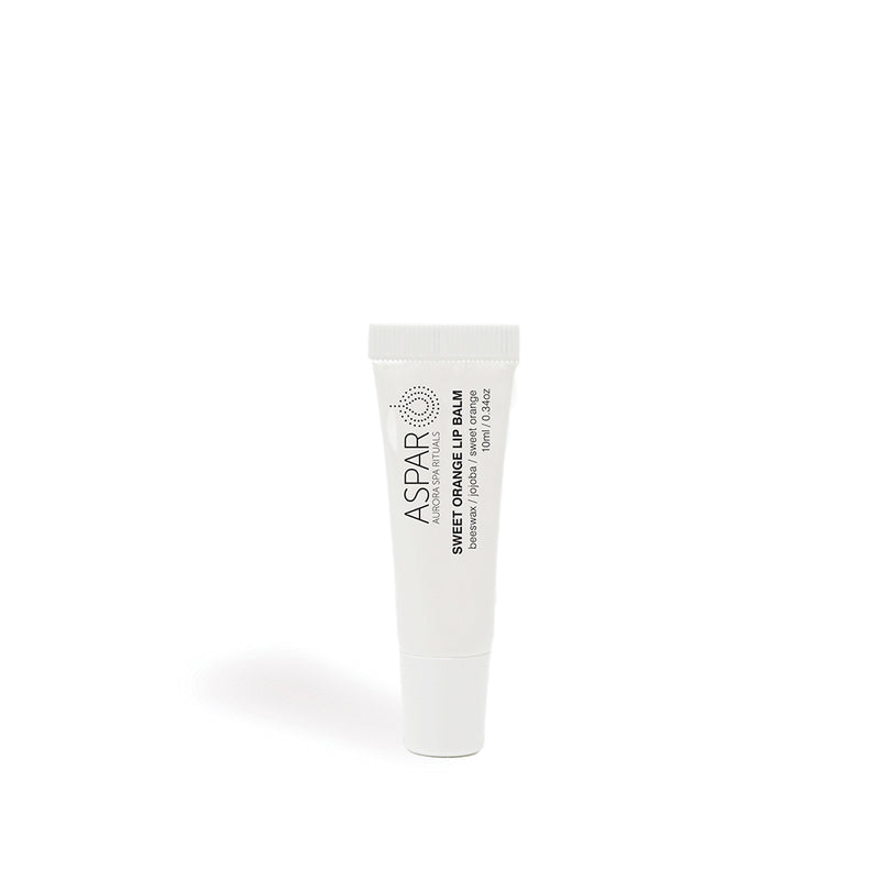 aspar lip balm stands on its own on a white background