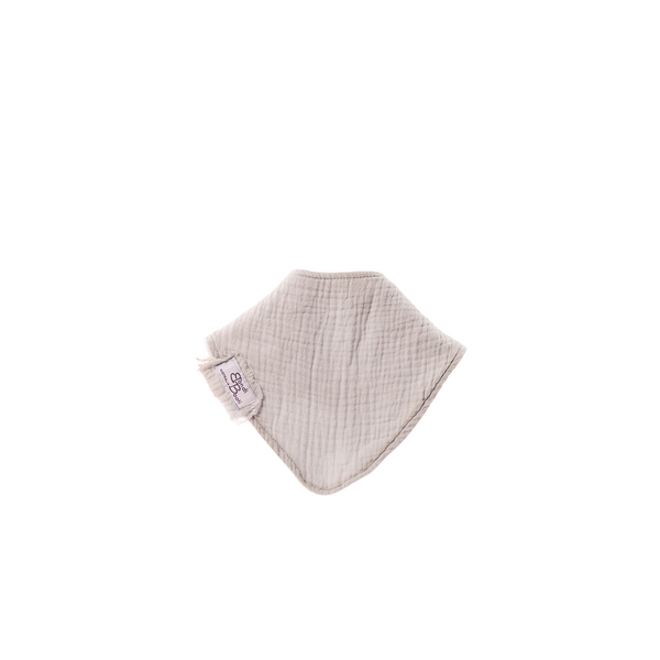 french grey coloured bondi booti dribble bib for teething and spills