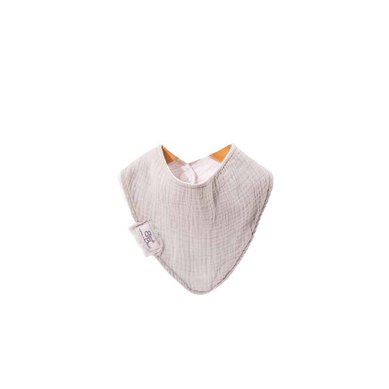 french grey bondi booti bib with buttons