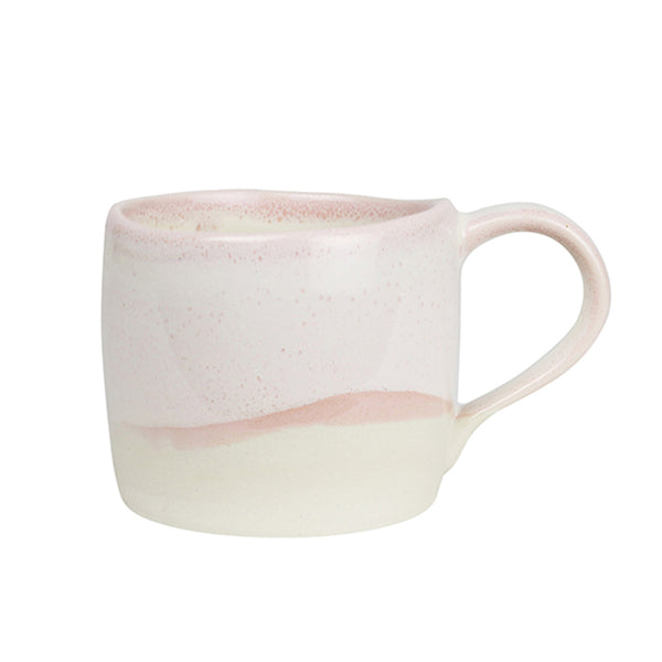 terra cotter swatch mug pink dipped half way