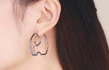 Load image into Gallery viewer, Trendy Elephant Hoop Earrings