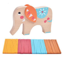Load image into Gallery viewer, Elephant Carrier Balance Wood Toy
