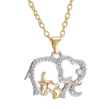 Load image into Gallery viewer, Mother and Baby Elephant Necklace