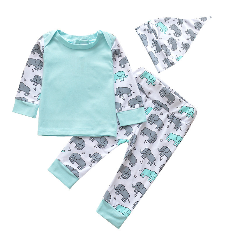 Elephant 3-piece Baby/Infant Pyjama