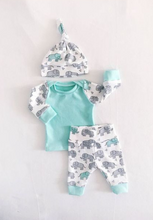 Load image into Gallery viewer, Elephant 3-piece Baby/Infant Pyjama