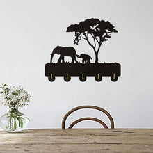 Load image into Gallery viewer, Elephant Silhouette Wooden Hanger