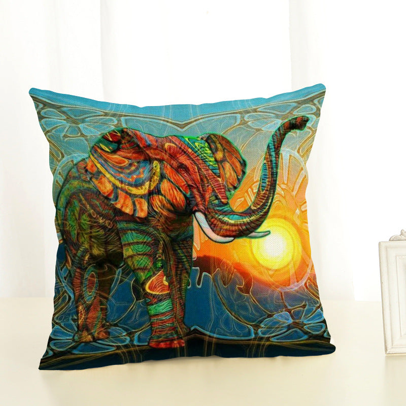 Elephant Art Cushion Cover (Various Designs)