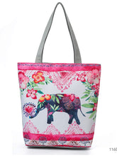 Load image into Gallery viewer, Elephant in Bloom Tote Bag