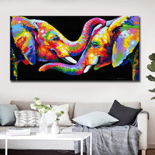 Load image into Gallery viewer, Elephant Friendship Canvas Painting
