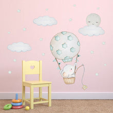 Load image into Gallery viewer, Baby Elephant in a Balloon Wall Sticker