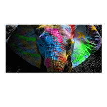 Load image into Gallery viewer, Graffiti Elephant Canvas Painting