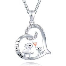 Load image into Gallery viewer, Mother's Love Elephant Necklace