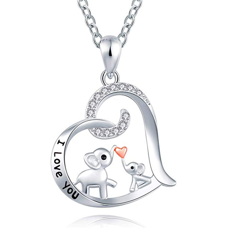 Mother's Love Elephant Necklace
