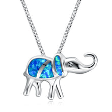 Load image into Gallery viewer, Classic Silver And Gemstone Style Elephant Necklace