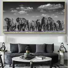 Load image into Gallery viewer, Elephant Herd Canvas Print