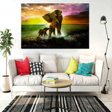 Load image into Gallery viewer, Mother and Calf at Sea Canvas Painting