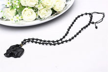 Load image into Gallery viewer, Obsidian Elephant Love Necklace