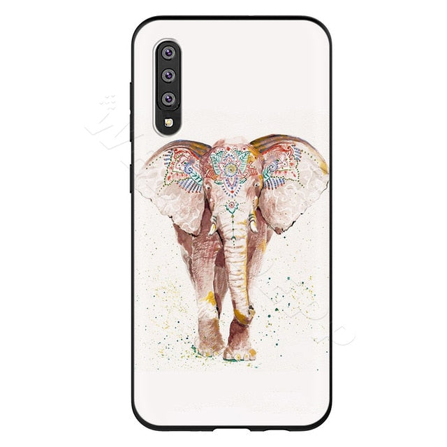 Festive Elephant White Phone Case - Samsung