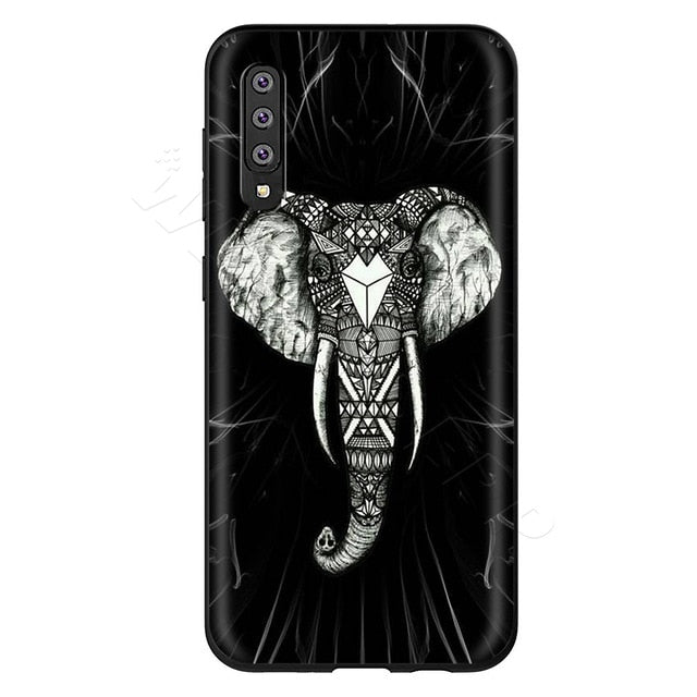 Black & White Mandala Phone Case - Samsung