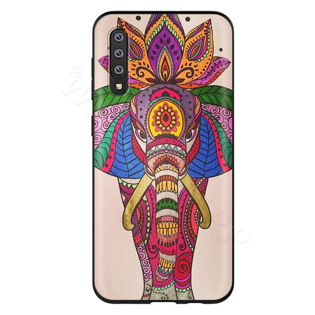 Colorful Mandala Elephant Phone Case - Samsung