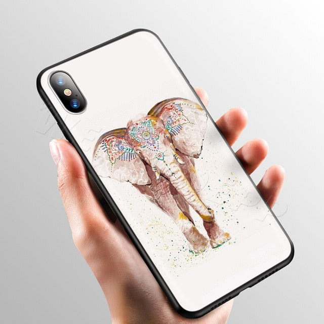 Festive Elephant White Phone Case - iPhone